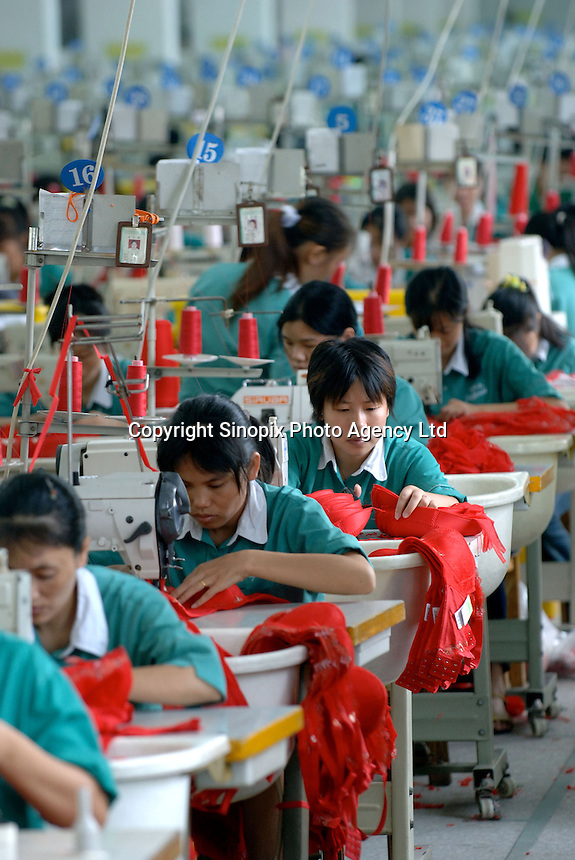 Inside the Jealosy Factory at the International Underwear City, Yanbu Town, Nanhai District, Foshan City, Guangdong, China. Jealosy produces 11 million bras annually and is increasing production by about 20 percent annually..
