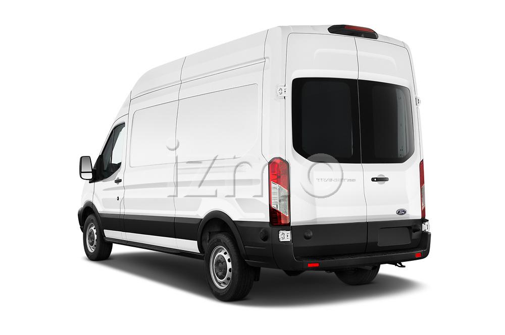 Car pictures of rear three quarter view of 2019 Ford Transit-Van - 4 Door Cargo Van Angular Rear