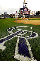 8 September 2006: Coors Field with Colorado Rockies grass logo by grounds crew. The Rockies defeated the Nationals 11-8 at Coors Field in Denver, Colorado...Mandatory Photo Credit: Ed Wolfstein.