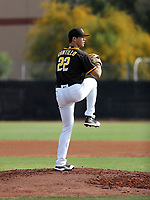 Joey Cantillo - San Diego Padres 2020 spring training (Bill Mitchell)