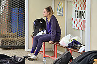 Anderlecht's Tessa Wullaert  pictured in the dug out of Tempo Overijse before a female soccer game between RSC Anderlecht Dames and KRC Genk Ladies  on the sixth matchday of the 2020 - 2021 season of Belgian Womens Super League , Sunday 8 th of November 2020  in Overijse , Belgium . PHOTO SPORTPIX.BE | SPP | DIRK VUYLSTEKE