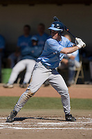 Tim Fedroff (16) of the North Carolina Tar Heels at bat versus the St. John's Red Storm at the 2008 Coca-Cola Classic at the Winthrop Ballpark in Rock Hill, SC, Sunday, March 2, 2008.