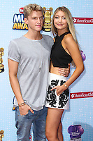 LOS ANGELES, CA, USA - APRIL 26: Cody Simpson, Gigi Hadid at the 2014 Radio Disney Music Awards held at Nokia Theatre L.A. Live on April 26, 2014 in Los Angeles, California, United States. (Photo by Xavier Collin/Celebrity Monitor)