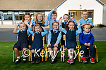Five sets of twins started in Junior infants at Kilmurray national school in Cordal on Monday, from left: Katie and Emma O'Sullivan, Fia and Sorcha Culhane, Alison and Eamon O'Donoghue, Ellen and Sinead Kane with Ethan and Ryan Quirke.