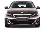Car photography straight front view of a 2015 Peugeot 308 Feline 5 Door Hatchback Front View