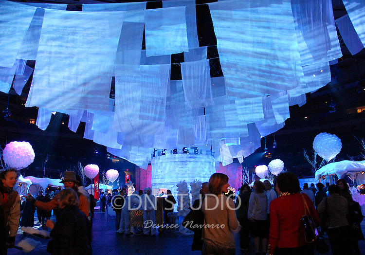 The inside scene of the arrival area for the World Premiere Of Wintuk Cirque du Soleil held at the Arena Floor at Madison Square Garden in New York City, New York on November 7, 2007.