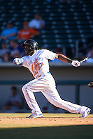 Mesa Solar Sox Anthony Alford (22), of the Toronto Blue Jays organization, during a game against the Scottsdale Scorpions on October 18, 2016 at Sloan Park in Mesa, Arizona.  Mesa defeated Scottsdale 6-3.  (Mike Janes/Four Seam Images)