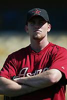 Brad Lidge of the Houston Astros during a 2003 season MLB game at Dodger Stadium in Los Angeles, California. (Larry Goren/Four Seam Images)