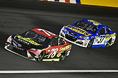 Monster Energy NASCAR Cup Series<br /> Monster Energy NASCAR All-Star Race<br /> Charlotte Motor Speedway, Concord, NC USA<br /> Saturday 20 May 2017<br /> Martin Truex Jr, Furniture Row Racing, 5-hour Energy Extra Strength Toyota Camry and Chris Buescher, JTG Daugherty Racing, Bush's Beans Chevrolet SS<br /> World Copyright: Nigel Kinrade<br /> LAT Images<br /> ref: Digital Image 17CLT1nk06250