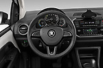 Car pictures of steering wheel view of a 2020 Skoda Citigo e iV Ambition 5 Door Hatchback