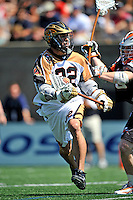 24 August 2008: Rochester Rattlers' Midfielder Casey Powell in action against the Denver Outlaws during the Championship Game of the Major League Lacrosse Championship Weekend at Harvard Stadium in Boston, MA. The Rattles defeated the Outlaws 16-6 to take the league honor for the 2008 season...Mandatory Photo Credit: Ed Wolfstein Photo