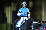 March 6, 2021: Willful Woman (3) with jockey Ricardo Santana, Jr. aboard before the Honeybee Stakes (G3) at Oaklawn Racing Casino Resort in Hot Springs, Arkansas on March 6, 2021. Justin Manning/Eclipse Sportswire/CSM