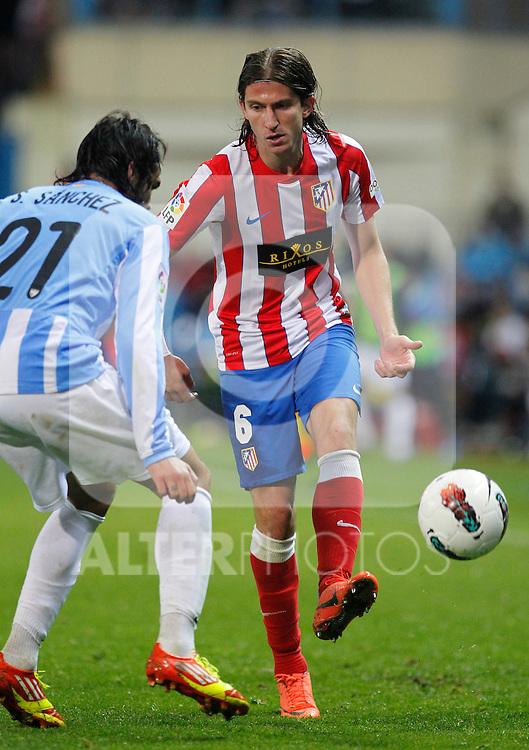 Madrid (05/05/2012).- Estadio Vicente Calderon..Liga BBVA.Atletico de madrid - Malaga Club de Futbol..Filipe Luis...Photo: Alex Cid-Fuentes / ALFAQUI..