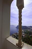 Italien, Capri, Villa San Michele in Anacapri, Wohnhaus von Axel Munthe, Blick auf Marina Grande