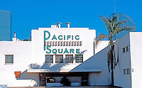 San Diego: The old Pacific Square Ballroom, before its 1988 destruction. 1375 Pacific Highway.<br /> Built about 1940. Art Deco style.