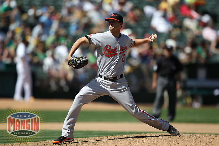 OAKLAND, CA - APRIL 18:  Brian Matusz #17 of the Baltimore Orioles pitches against the Oakland Athletics during the game at the Oakland-Alameda County Coliseum on April 18, 2010 in Oakland, California. The Orioles beat the A's 8-3. Photo by Brad Mangin