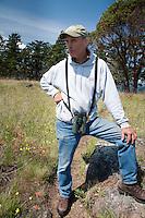 Resident Caretaker Phil Green, Yellow Island, San Juan Islands, Washington, US