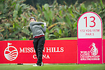 Kylie Walker of Scotland tees off at the 13th hole during Round 2 of the World Ladies Championship 2016 on 11 March 2016 at Mission Hills Olazabal Golf Course in Dongguan, China. Photo by Victor Fraile / Power Sport Images