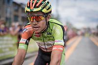 race winner Wout Van Aert (BEL/Crelan-Vastgoedservice) after the finish<br /> <br /> 91th Schaal Sels 2016