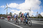The breakaway featuring Marc Soler (ESP) Movistar, Zdenek Stybar (CZE) Deceuninck-Quick Step, Tim Wellens (BEL) Lotto-Soudal, Dylan Van Baarle (NED) Ineos Grenadiers, Michael Woods (CAN) EF, Thymen Arensman (NED) Sunweb and Pierre-Luc Périchon (FRA) Cofidis during Stage 14 of the Vuelta Espana 2020, running 204.7km from Lugo to Ourense, Spain. 4th November 2020. <br /> Picture: Unipublic/Charly Lopez | Cyclefile<br /> <br /> All photos usage must carry mandatory copyright credit (© Cyclefile | Unipublic/Charly Lopez)