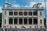 Honolulu: Iolani Palace--west elevation. Photo '82.