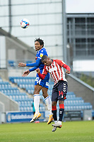Cavani Brown of Colchester United heads forward during Colchester United vs Oldham Athletic, Sky Bet EFL League 2 Football at the JobServe Community Stadium on 3rd October 2020