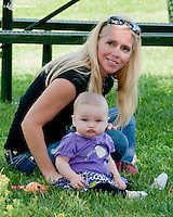 Mandy and Hannah Ness at Delaware Park on 6/20/13