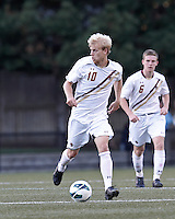 Boston College midfielder Kyle Bekker (10) looks to pass. Boston College defeated University of Rhode Island, 4-2, at Newton Campus Field, September 25, 2012.