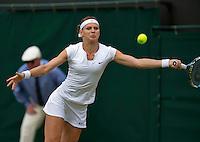 England, London, Juli 06, 2015, Tennis, Wimbledon, Lucie Safarova (CZE) in her match against Vandeweghe(CZE)<br /> Photo: Tennisimages/Henk Koster