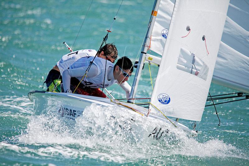 Australia420MenCrewAUSXW1XavierWinston Smith<br /> Australia420MenHelmAUSAB56AlecBrodie<br /> Day2, 2015 Youth Sailing World Championships,<br /> Langkawi, Malaysia