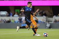 SAN JOSE, CA - JUNE 26: Chris Wondolowski #8 during a Major League Soccer (MLS) match between the San Jose Earthquakes and the Houston Dynamo on June 26, 2019 at Avaya Stadium in San Jose, California.