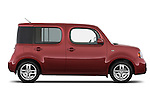 Driver side profile view of a 2009 Nissan Cube SL.