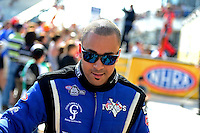 Sept. 23, 2012; Ennis, TX, USA: NHRA top fuel dragster driver J.R. Todd during the Fall Nationals at the Texas Motorplex. Mandatory Credit: Mark J. Rebilas-US PRESSWIRE