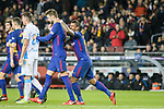 Paulinho Maciel of FC Barcelona (R) celebrating his score with his teammates during the La Liga 2017-18 match between FC Barcelona and Deportivo La Coruna at Camp Nou Stadium on 17 December 2017 in Barcelona, Spain. Photo by Vicens Gimenez / Power Sport Images