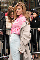 Maryna Linchuk<br /> arrives for the Topshop Unique AW17 show as part of London Fashion Week AW17 at Tate Modern, London.<br /> <br /> <br /> ©Ash Knotek  D3232  19/02/2017