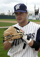 April 20, 2004:  Skip Adams of the Fort Wayne Wizards, Midwest League (Low-A) affiliate of the San Diego Padres, during a game at Memorial Stadium in Fort Wayne, IN.  Photo by:  Mike Janes/Four Seam Images