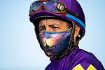 Victor Espinoza before the San Diego Handicap at Del Mar, in Del Mar Ca, July 25, 2020. (Photo: Alex Evers)