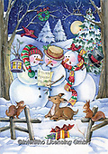 Interlitho, Dani, CHRISTMAS SANTA, SNOWMAN, paintings, snowman, animals(KL6141,#X#) Weihnachtsmänner, Schneemänner, Weihnachen, Papá Noel, muñecos de nieve, Navidad, illustrations, pinturas