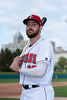 Indianapolis Indians first baseman Will Craig (25) poses for a photo before an International League game against the Columbus Clippers at Victory Field on April 29, 2019 in Indianapolis, Indiana. (Zachary Lucy/Four Seam Images)