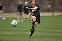 LOUISVILLE, KY - MARCH 13: Nealy Martin #36 of Racing Louisville FC passes the ball during warmups before a game between West Virginia University and Racing Louisville FC at Thurman Hutchins Park on March 13, 2021 in Louisville, Kentucky.