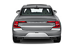 Straight rear view of a 2019 Volvo S90 T6 Inscription 4 Door Sedan stock images