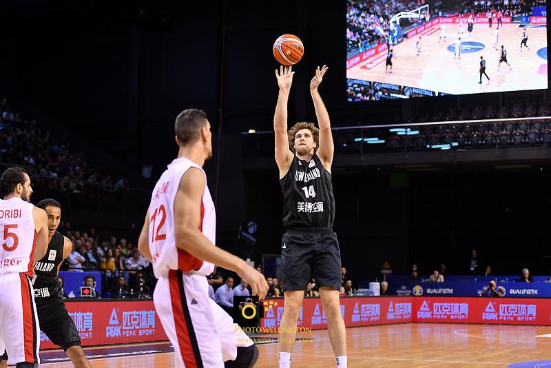 New Zealand Tall Blacks' Rob Loe in action during the FIBA World Cup Basketball Qualifier - NZ Tall Blacks v Syria at TSB Bank Arena, Wellington, New Zealand on Sunday 2 2018. <br /> Photo by Masanori Udagawa. <br /> www.photowellington.photoshelter.com