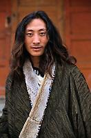 Amdo, Tibet 2005. Tibetan man in Labrang, Amdo, Tibet, 2005