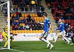 St Johnstone v Dundee….03.04.19   McDiarmid Park   SPFL<br />Callum Hendry scores for saints<br />Picture by Graeme Hart. <br />Copyright Perthshire Picture Agency<br />Tel: 01738 623350  Mobile: 07990 594431