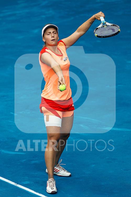 Ksenia Pervak during Mutua Madrid Open 2012 match on may 6th 2012...Photo: Cesar Cebolla / ALFAQUI