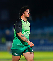 2nd January 2021; RDS Arena, Dublin, Leinster, Ireland; Guinness Pro 14 Rugby, Leinster versus Connacht; Dominic Robertson-McCoy of Connacht warms up prior to kickoff