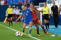 Finland's Emma Koivisto and Spain's Olga Garcia during the match of  European Women's Championship 2017 at Leganes, between Spain and Finland. September 20, 2016. (ALTERPHOTOS/Rodrigo Jimenez) NORTEPHOTO