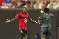 CLEVELAND, OHIO - JUNE 22: Yellow Card during a 2019 CONCACAF Gold Cup group D match between the United States and Trinidad & Tobago at FirstEnergy Stadium on June 22, 2019 in Cleveland, Ohio.