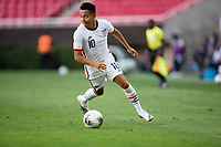 ZAPOPAN, MEXICO - MARCH 21: Sebastian Saucedo #10 of the United States turns and moves to the goal during a game between Dominican Republic and USMNT U-23 at Estadio Akron on March 21, 2021 in Zapopan, Mexico.