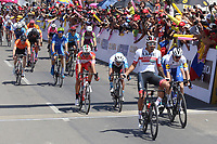 TUNJA - COLOMBIA, 11-02-2020: Juan Sebastian Molano Benavides (COL) UAD, gana la segunda etapa del Tour Colombia 2.1 2020 con un recorrido de 152,4 km, que se corrió entre Paipa y Duitama, Boyacá. / Juan Sebastian Molano Benavides (COL) UAD wins the second stage of 152,4 km as part of Tour Colombia 2.1 2020 that ran between Paipa and Duitama, Boyaca.  Photo: VizzorImage / Darlin Bejarano / Cont